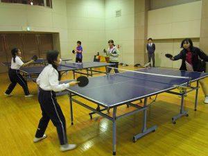 東星学園 校長・大矢正則 清瀬 私立 小学校 中高卓球部との交流練習(4)