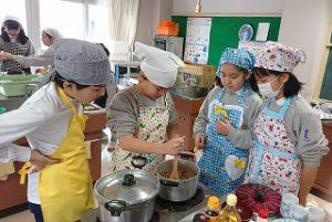 東星学園 大矢正則校長 カトリック ミッション 男女 5年生調理実習(3)