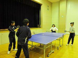 東星学園 校長 大矢正則 カトリック ミッション 男女 中高卓球部との交流練習(3)
