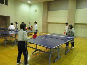 東星学園 校長・大矢正則 カトリック ミッション 男女 中高卓球部との交流練習(1)