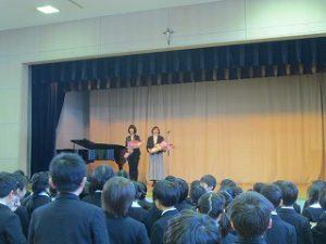 東星学園 大矢正則校長 カトリック ミッション 男女 2018年度 終業式(3)