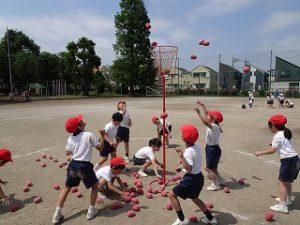 東星学園 校長 大矢正則 清瀬 私立 小学校 低学年 運動会練習風景(4)