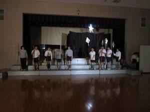 東星学園 校長 大矢正則 清瀬 私立 小学校 5年生 聖劇練習(4)
