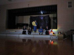 東星学園 校長・大矢正則 カトリック ミッション 男女 5年生 聖劇練習(5)