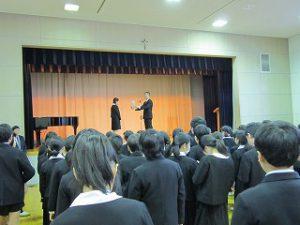東星学園 大矢正則校長 清瀬 私立 小学校 始業日(4)