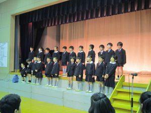 東星学園 校長・大矢正則 清瀬 私立 小学校 3月7日(木)6年生を送る会(6)