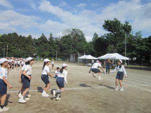東星学園 校長 大矢正則 清瀬 私立 小学校 運動会合同練習(8)