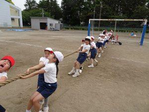 東星学園 校長・大矢正則 清瀬 私立 小学校 低学年 運動会練習風景(2)