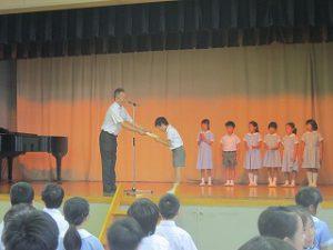 東星学園 大矢正則校長 カトリック ミッション 男女 始業日(3)