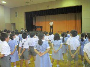 東星学園 校長・大矢正則 清瀬 私立 小学校 始業日(2)