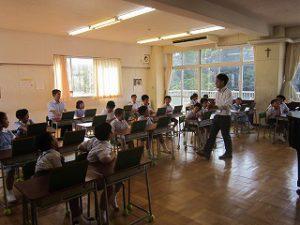 東星学園 校長 大矢正則 清瀬 私立 小学校 始業日(4)