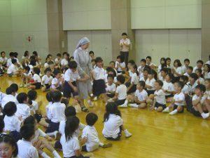 東星学園 校長 大矢正則 カトリック ミッション 男女 理事長シスター 霊名のお祝い会(1)