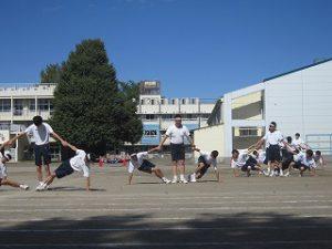 東星学園 校長 大矢正則 カトリック ミッション 男女 体育祭合同練習(7)