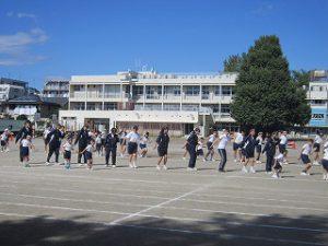 東星学園 校長・大矢正則 清瀬 私立 小学校 体育祭合同練習(8)