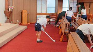 東星学園 校長 大矢正則 カトリック ミッション 男女 教会清掃ボランティア(1)
