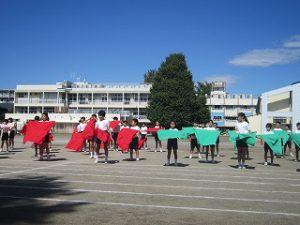 東星学園 校長・大矢正則 カトリック ミッション 男女 体育祭合同練習(5)