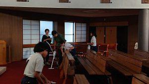東星学園 校長・大矢正則 清瀬 私立 小学校 教会清掃ボランティア(2)