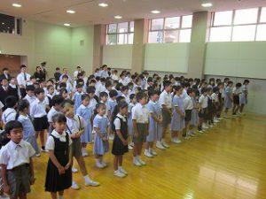 東星学園 校長・大矢正則 清瀬 私立 小学校 2019年 後期始業式(2)