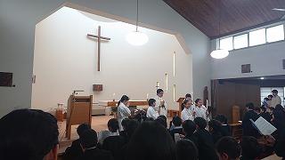 東星学園 校長 大矢正則 カトリック ミッション 男女 クリスマス会(1)