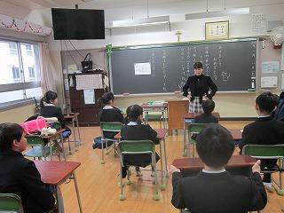 東星学園 校長・大矢正則 清瀬 私立 小学校 始業の集い(2)