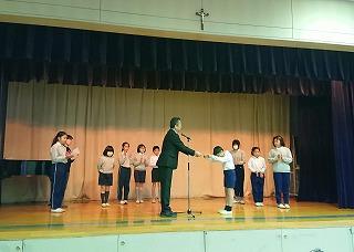 東星学園 校長 大矢正則 清瀬 私立 小学校 児童会役員選挙と認証式(4)