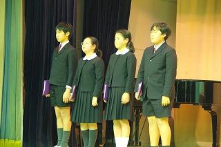 東星学園 大矢正則校長 カトリック ミッション 男女 高学年 朗読大会(3)