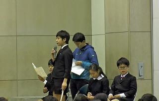 東星学園 大矢正則校長 カトリック ミッション 男女 児童会役員選挙と認証式(3)