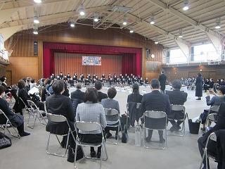 東星学園 校長 大矢正則 カトリック ミッション 男女 第84回 東星学園小学校卒業式(1)