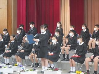 東星学園 校長 大矢正則 清瀬 私立 小学校 第84回 東星学園小学校卒業式(4)