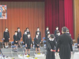 東星学園 校長・大矢正則 カトリック ミッション 男女 第84回 東星学園小学校卒業式(5)