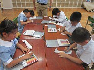 東星学園 校長・大矢正則 清瀬 私立 小学校 無料ダウンロードで紙飛行機つくり(4)