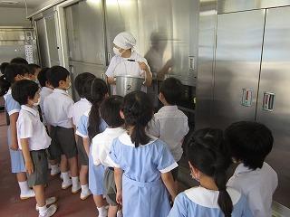 東星学園 校長 大矢正則 清瀬 私立 小学校 給食室見学(4)