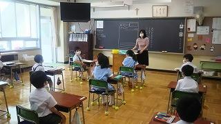 東星学園 大矢正則校長 カトリック ミッション 男女 学校再開~1年生・あさがおの観察~(3)