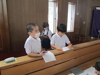 清瀬 私立 小学校 東星学園 校長 大矢正則 2年生宗教 十字架の道行き(4)