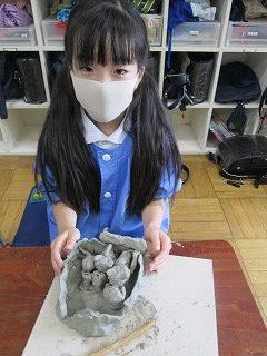 清瀬 私立 小学校 東星学園 大矢正則校長 1,2年生 粘土を使って(6)