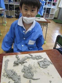 カトリック ミッション 男女 東星学園 校長 大矢正則 1,2年生 粘土を使って(7)