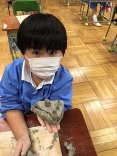 カトリック ミッション 男女 東星学園 校長 大矢正則 1,2年生 粘土を使って(3)