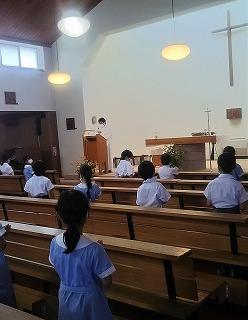 東星学園 大矢正則校長 カトリック ミッション 男女 秋津教会 ミサ(3)