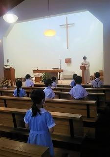 東星学園 校長 大矢正則 カトリック ミッション 男女 秋津教会 ミサ(1)