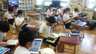 東星学園 校長 大矢正則 清瀬 私立 小学校 読書&ICT(4)