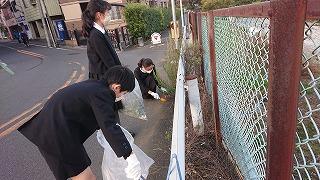カトリック ミッション 男女 東星学園 大矢正則校長 11月の児童ボランティア活動(1)