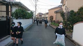 カトリック ミッション 男女 東星学園 大矢正則校長 11月の児童ボランティア活動(3)