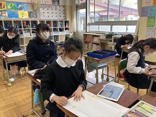 清瀬 私立 小学校 東星学園 校長 大矢正則 2月の児童ボランティア(1)