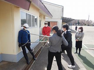 カトリック ミッション 男女 東星学園 校長 大矢正則 防犯訓練(3)