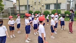 カトリック ミッション 男女 東星学園 校長 大矢正則 運動会練習低学年(2)