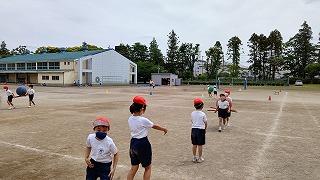 カトリック ミッション 男女 東星学園 校長 大矢正則 運動会練習低学年(3)