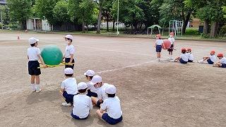 清瀬 私立 小学校 東星学園 校長 大矢正則 運動会練習低学年(1)